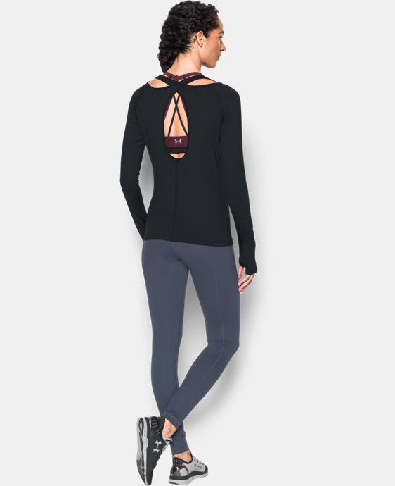 New Arrival  Women's UA Swing Keyhole Long Sleeve LIMITED TIME: FREE SHIPPING 1 Color $44.99