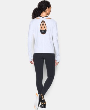 Best Seller Women's UA Swing Keyhole Long Sleeve LIMITED TIME: FREE U.S. SHIPPING 1 Color $49.99