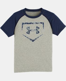 Boys' Pre-School UA Home Base T-Shirt LIMITED TIME: FREE SHIPPING 3 Colors $17.99