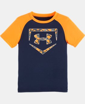 Boys' Pre-School UA Home Base T-Shirt LIMITED TIME: FREE SHIPPING 1 Color $13.99