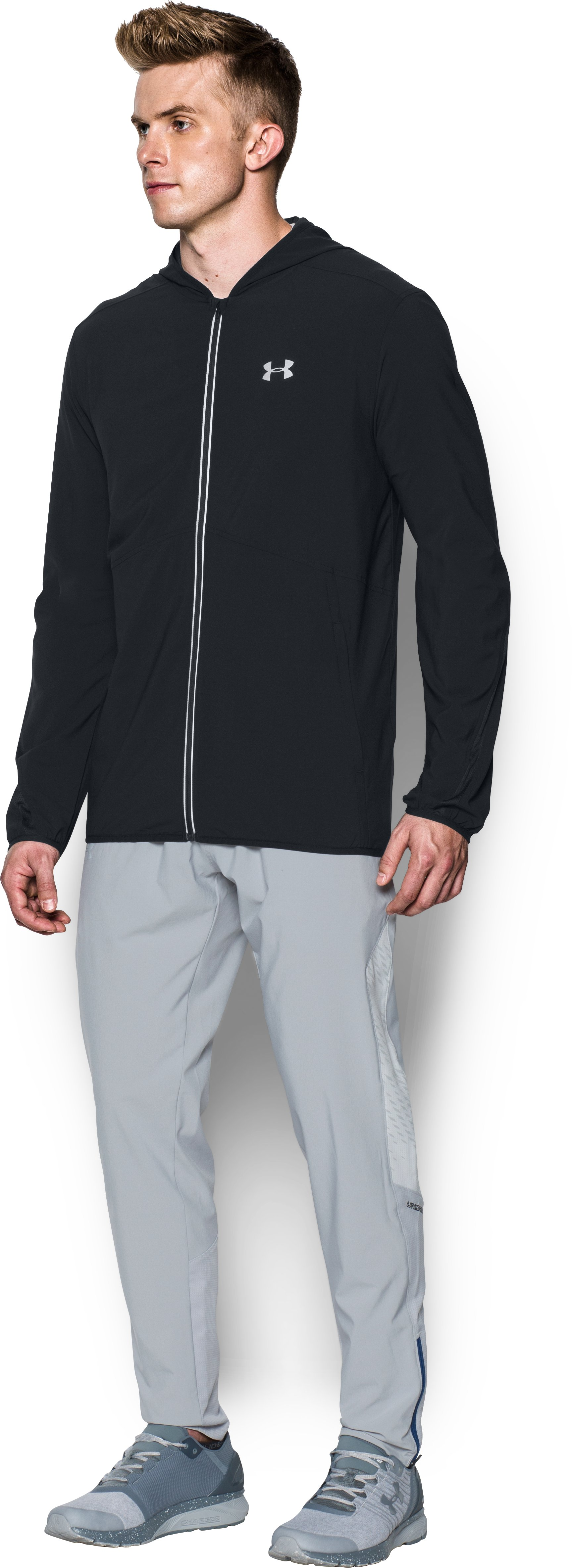 Men's UA Run True Jacket, Black ,