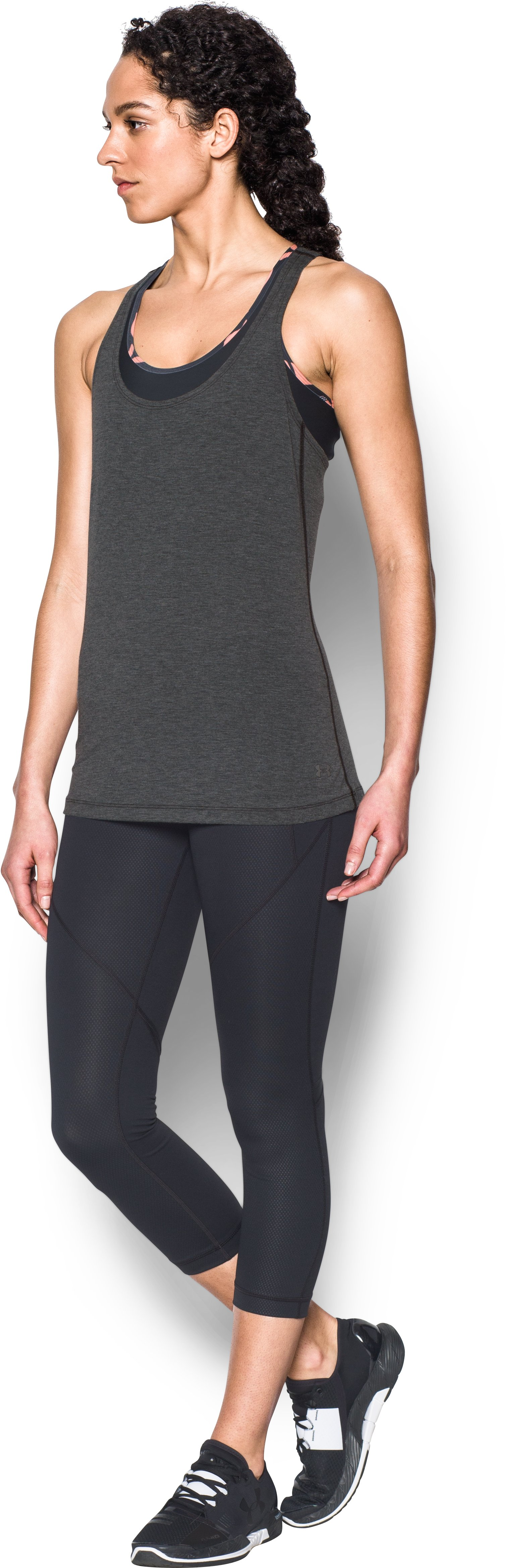 Women's UA Skyward Tank, Asphalt Heather,