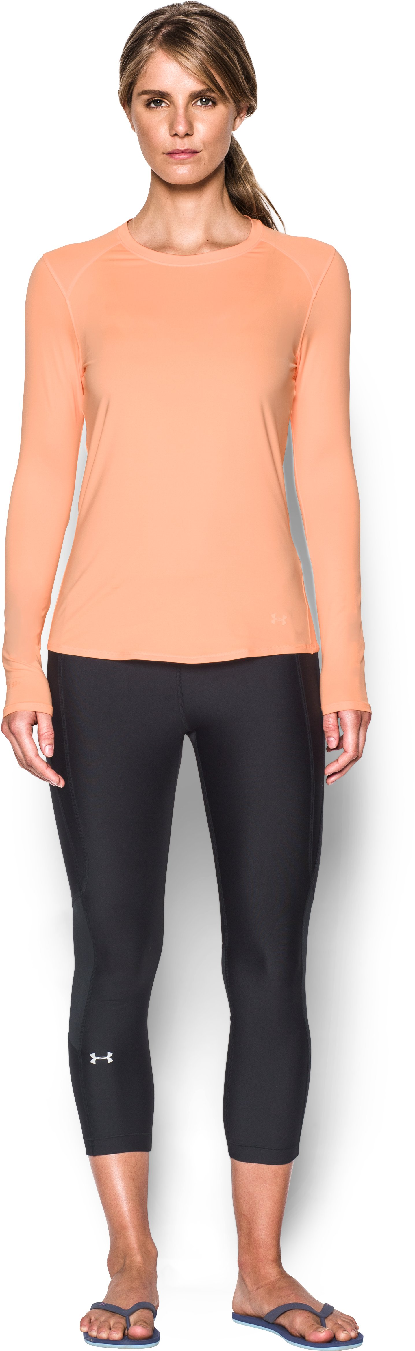 Women's UA 50 Long Sleeve, PLAYFUL PEACH, Front