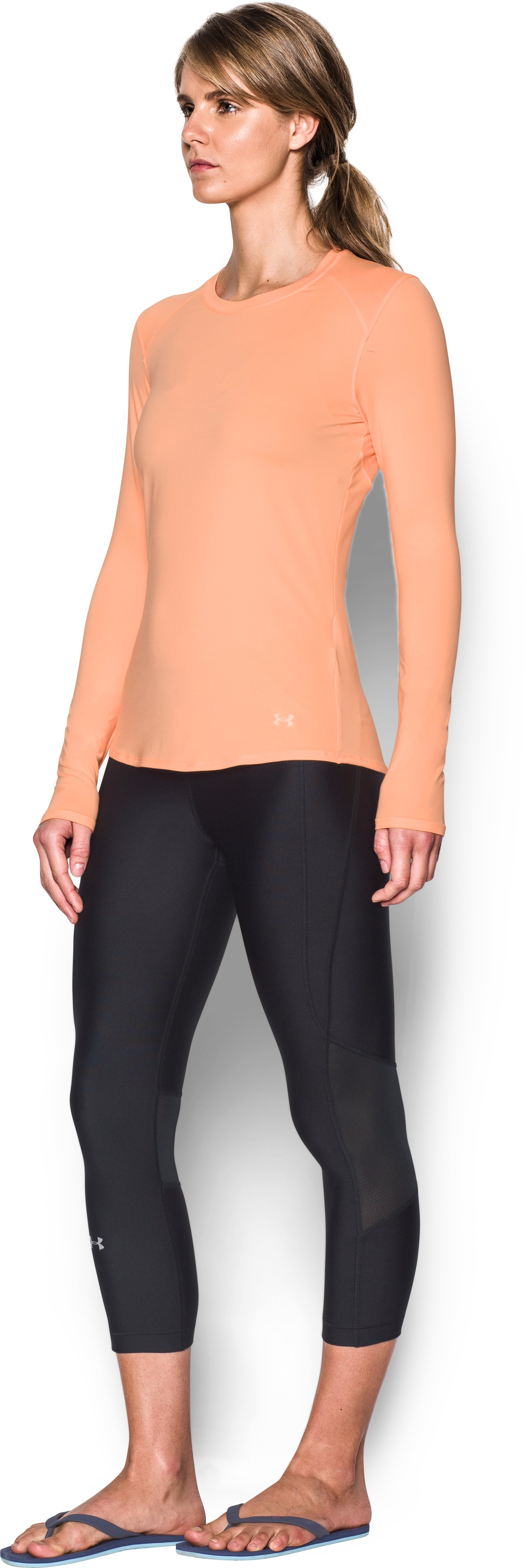 Women's UA 50 Long Sleeve, PLAYFUL PEACH, undefined