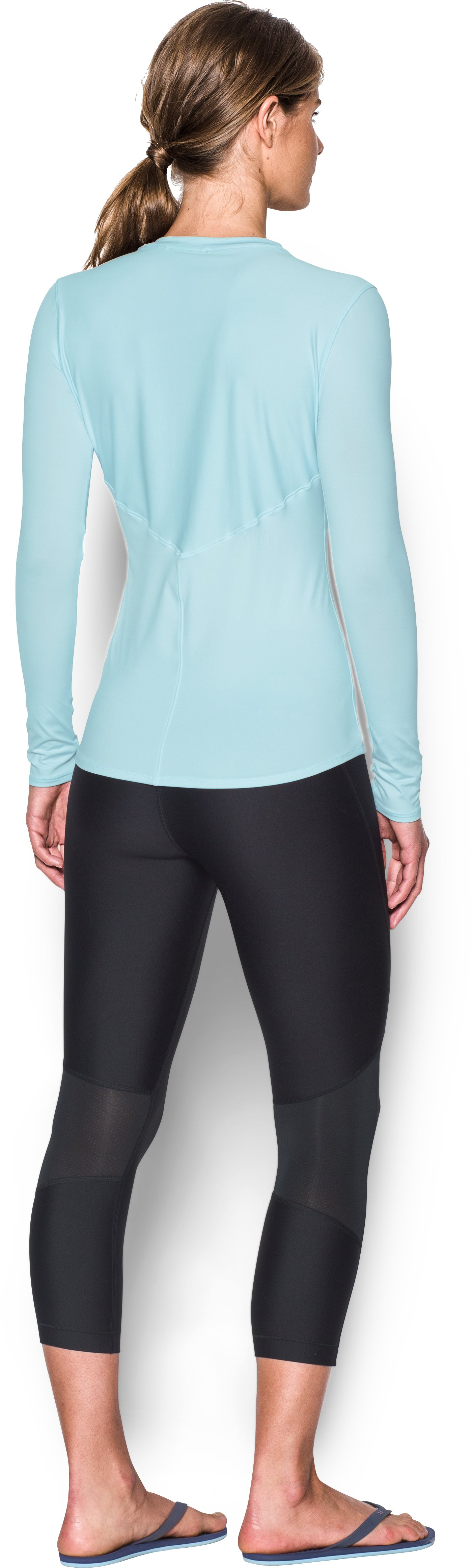 Women's UA 50 Long Sleeve, SKYLIGHT, Back