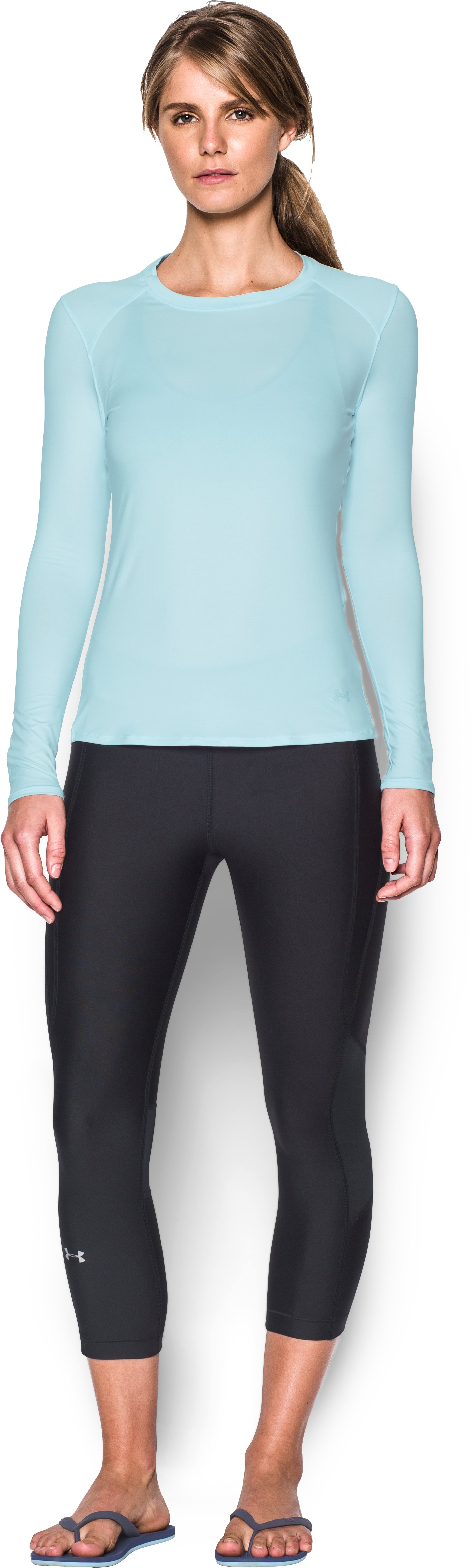 Women's UA 50 Long Sleeve, SKYLIGHT, Front
