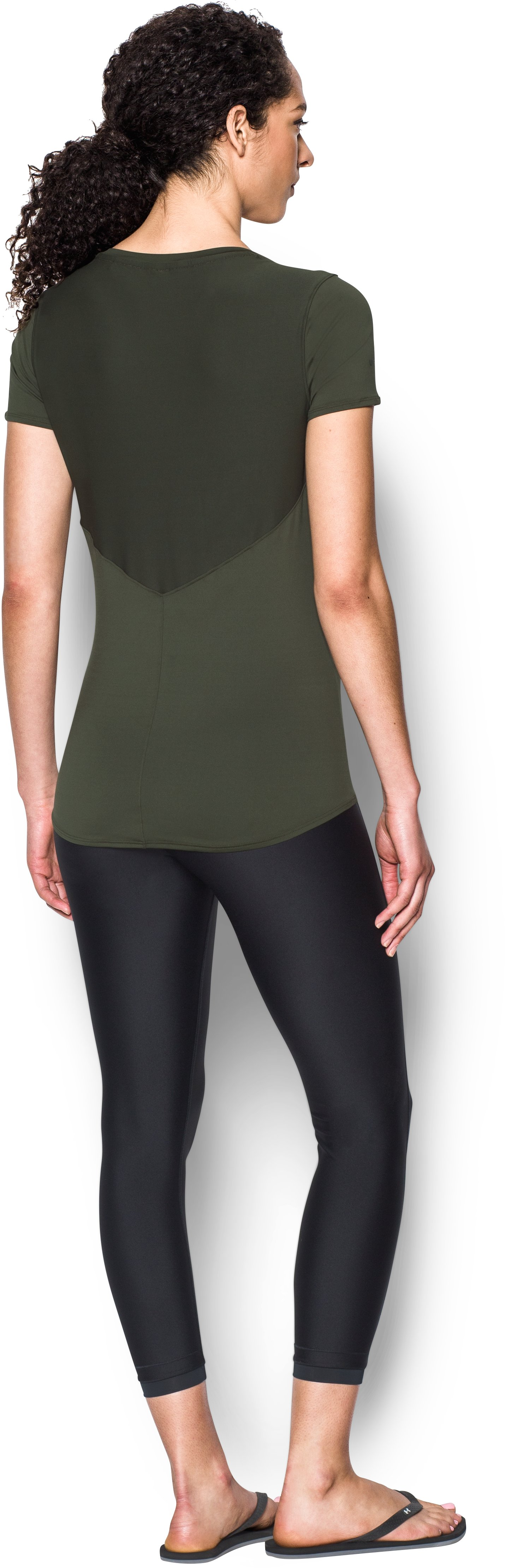 Women's UA 50 Short Sleeve, DOWNTOWN GREEN, Back