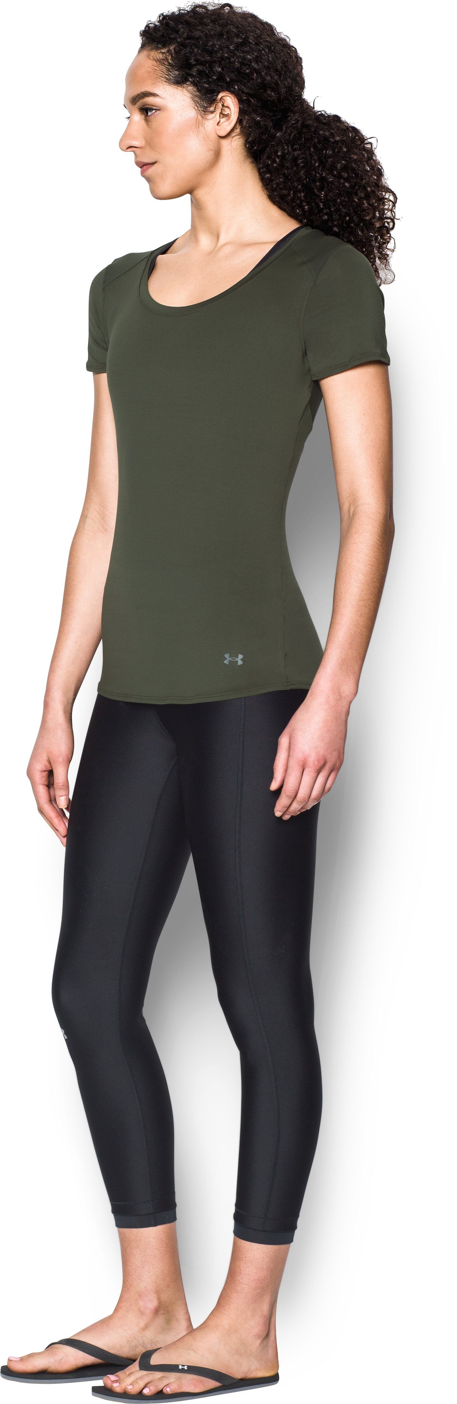 Women's UA 50 Short Sleeve, DOWNTOWN GREEN,