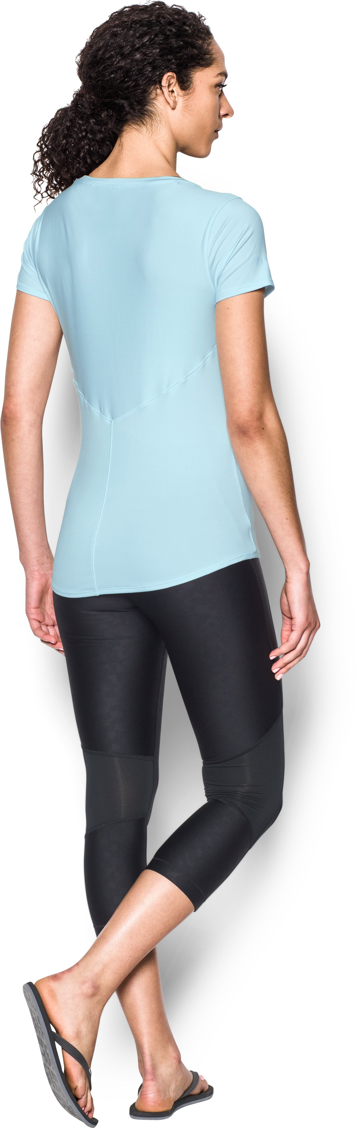 Women's UA 50 Short Sleeve, SKYLIGHT, Back