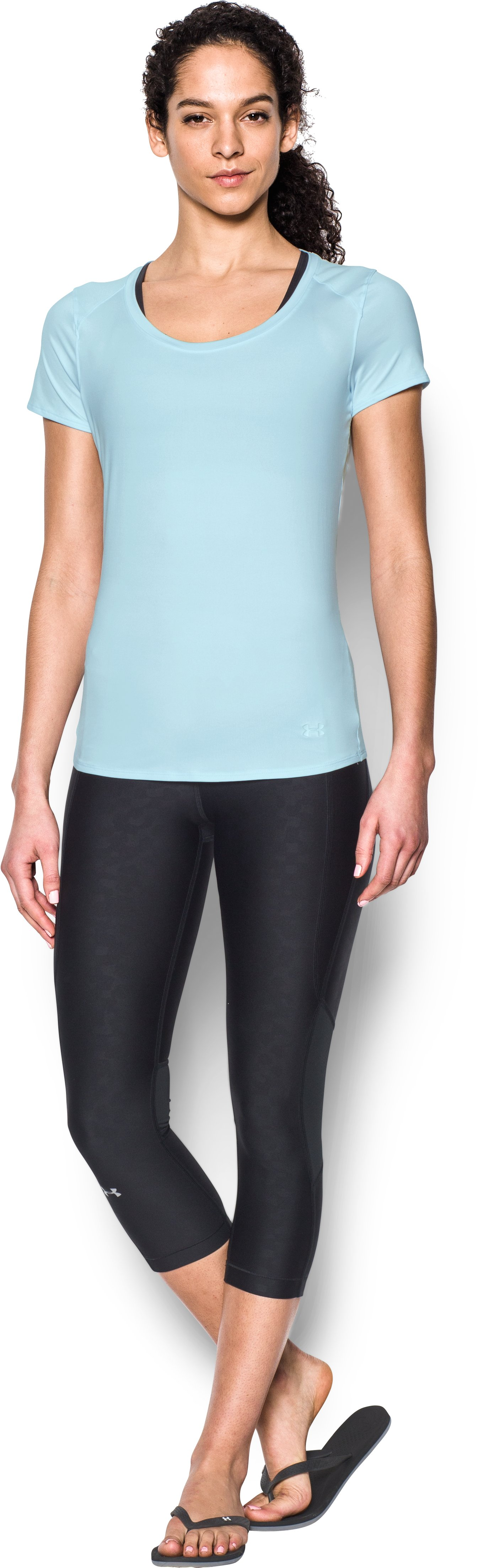 Women's UA 50 Short Sleeve, SKYLIGHT, Front