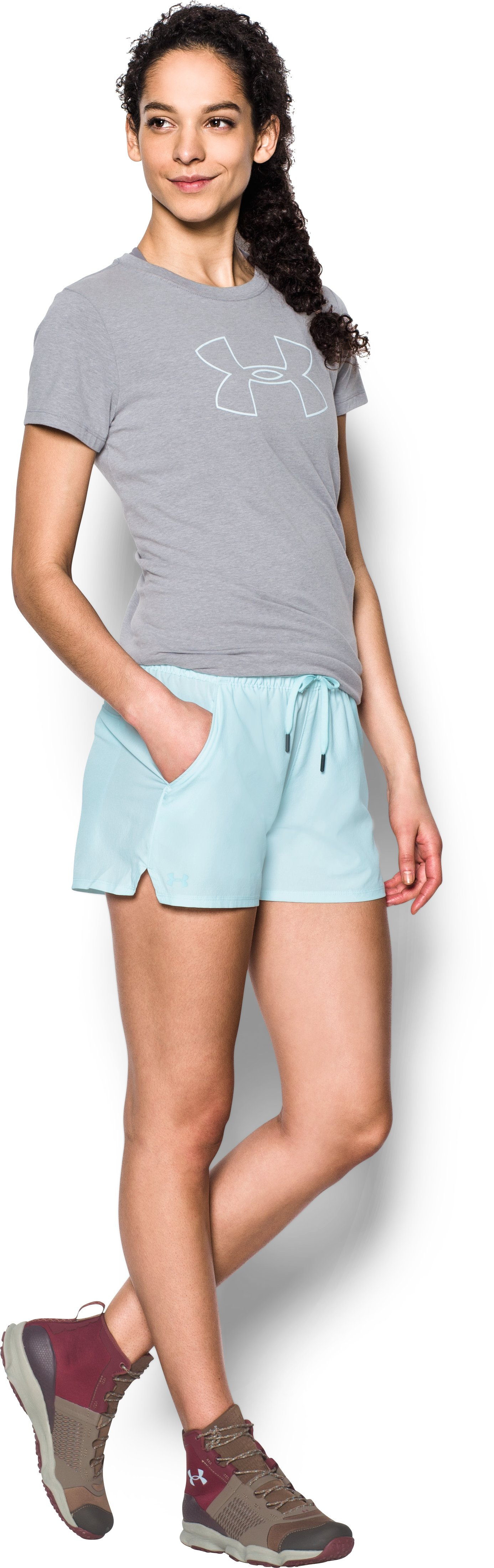 Women's UA Do Anything Shorts, SKYLIGHT, Front