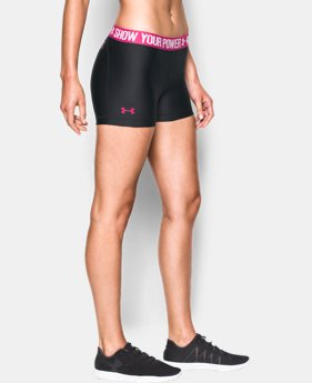 New to Outlet Women's UA Power In Pink® HeatGear® Armour Shorty  1 Color $20.99 to $22.49