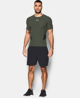 New Arrival Men's HeatGear® Armour Zone Compression Short Sleeve  1 Color $59.99