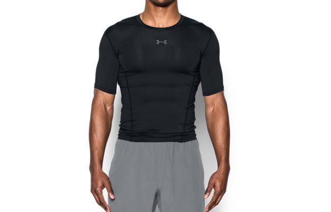 男士HeatGear® Supervent Armour強力伸縮型短袖T恤