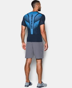 Men's HeatGear® SuperVent Armour Short Sleeve Compression T-Shirt  1  Color Available $26.99 to $33.99