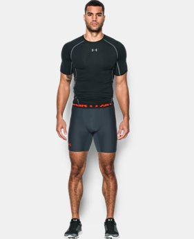 New Arrival  Men's HeatGear® Armour Mid Compression Shorts    $32.99
