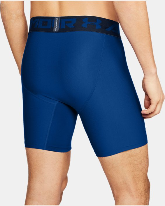 Men's HeatGear® Armour Mid Compression Shorts, Blue, pdpMainDesktop image number 1