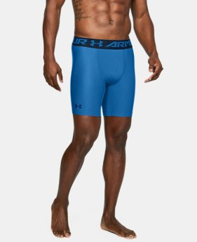 Men's HeatGear® Armour Mid Compression Shorts  1  Color Available $27.99