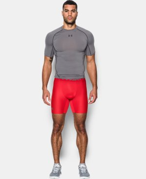 New Arrival  Men's HeatGear® Armour Mid Compression Shorts   1 Color $32.99