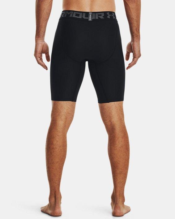 Men's HeatGear® Armour Long Compression Shorts, Black, pdpMainDesktop image number 3