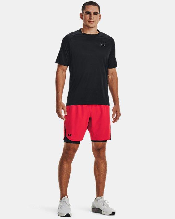 Men's HeatGear® Armour Long Compression Shorts, Black, pdpMainDesktop image number 1