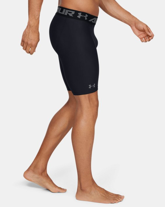 Men's HeatGear® Armour Long Compression Shorts, Black, pdpMainDesktop image number 4