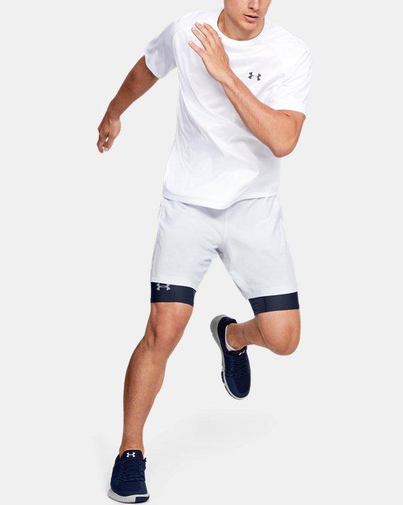 Men's HeatGear® Armour Long Compression Shorts, Navy, pdpMainDesktop image number 1