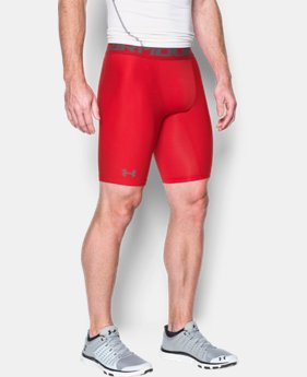 Men's HeatGear® Armour Long Compression Shorts  1 Color $17.99