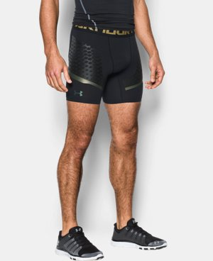 New Arrival Men's HeatGear® Armour Zone Compression Shorts  1 Color $59.99