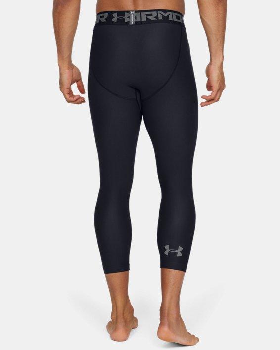 Men's HeatGear® Armour Compression ¾ Leggings, Black, pdpMainDesktop image number 3
