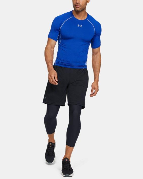 Men's HeatGear® Armour Compression ¾ Leggings, Black, pdpMainDesktop image number 1