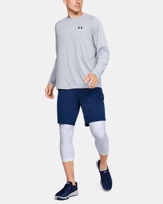 Men's HeatGear® Armour Compression ¾ Leggings, White, pdpMainDesktop image number 1