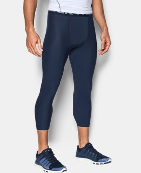 New Arrival Men's HeatGear® Armour Compression ¾ Leggings   1 Color $31.99