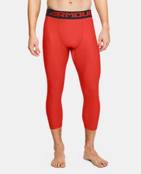Men's HeatGear® Armour Compression ¾ Leggings  4  Colors Available $31.99