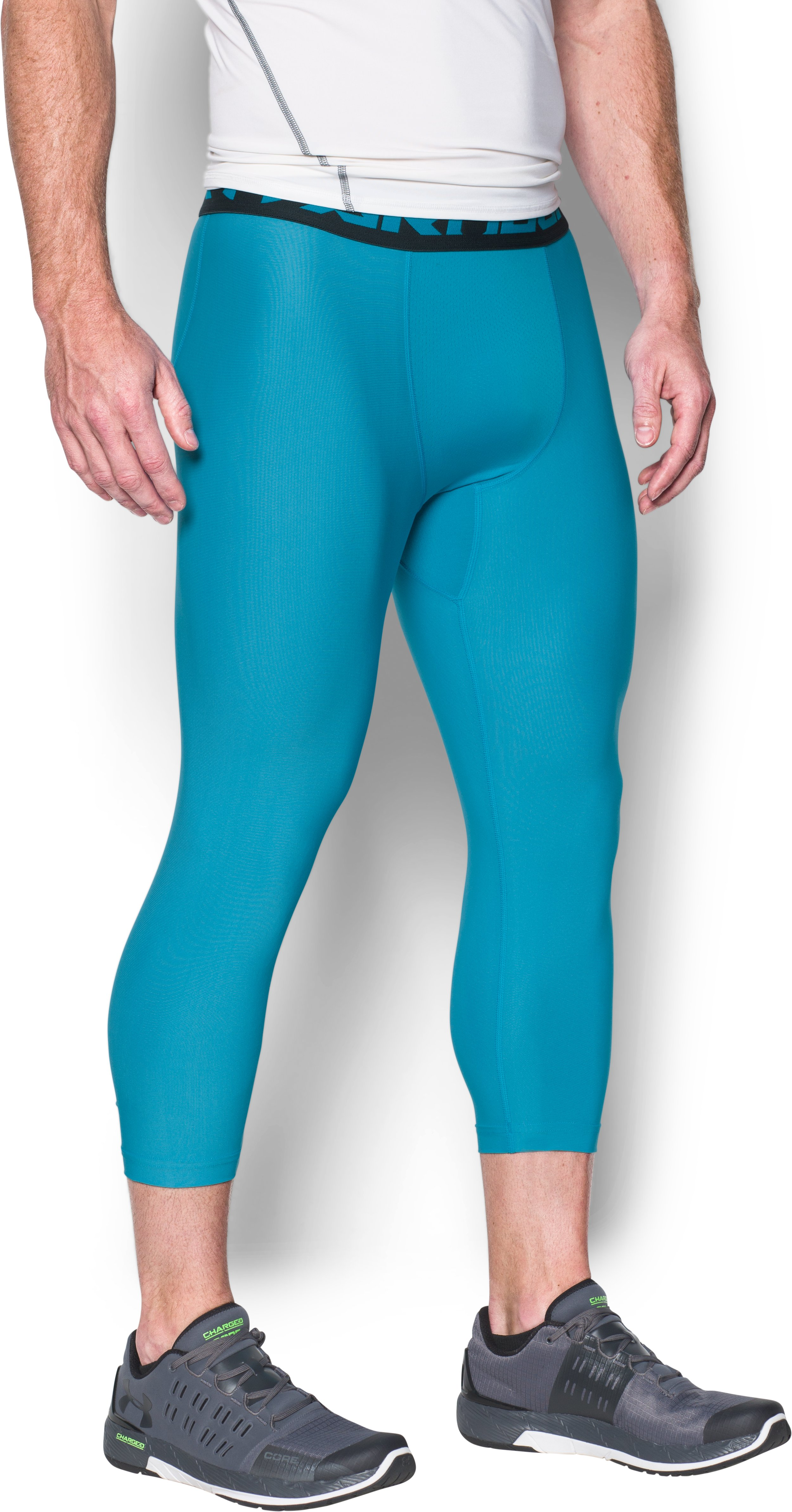 Men's HeatGear® Armour Compression ¾ Leggings, BLUE SHIFT