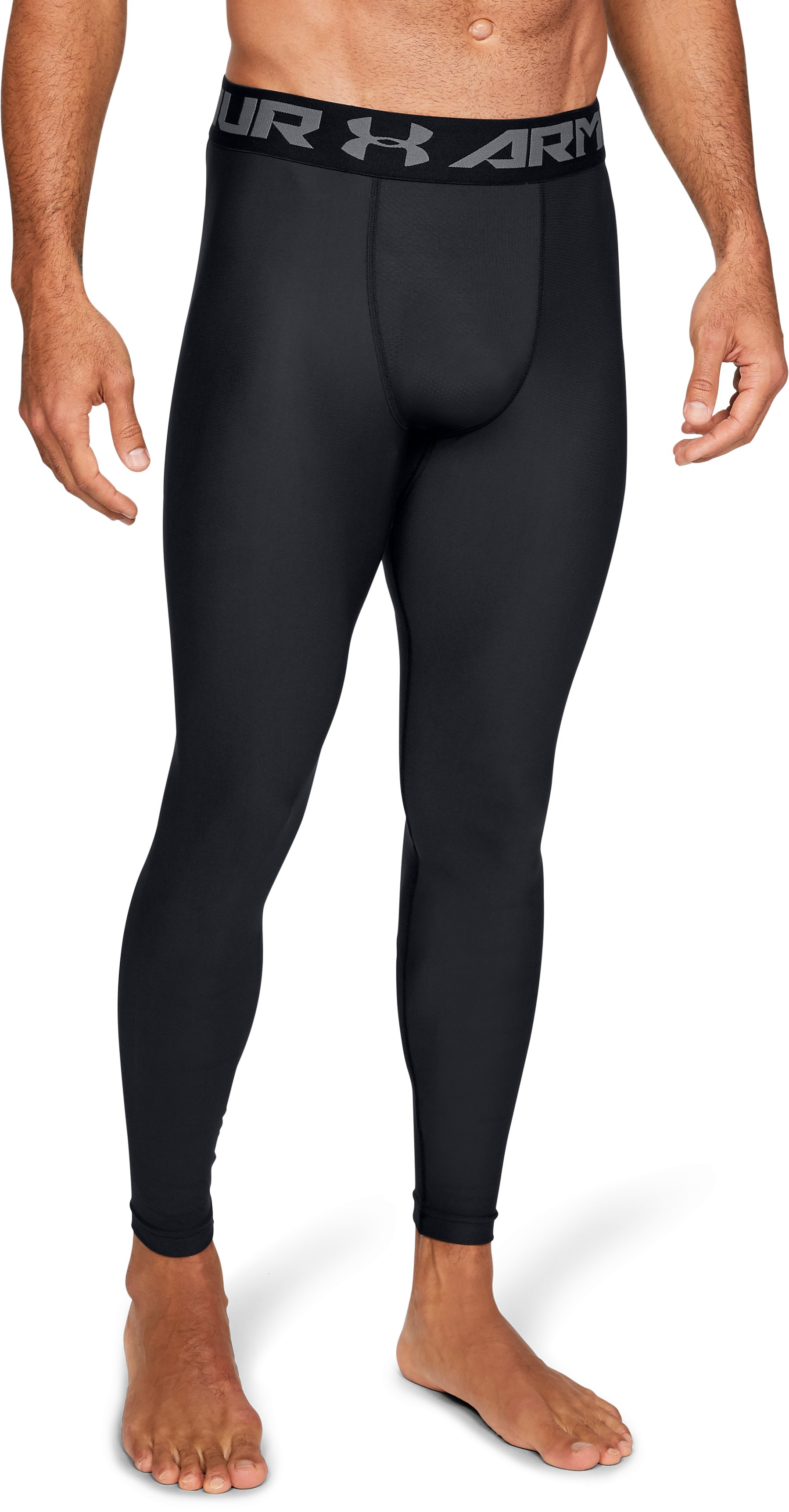 Men's HeatGear® Armour Compression Leggings, Black
