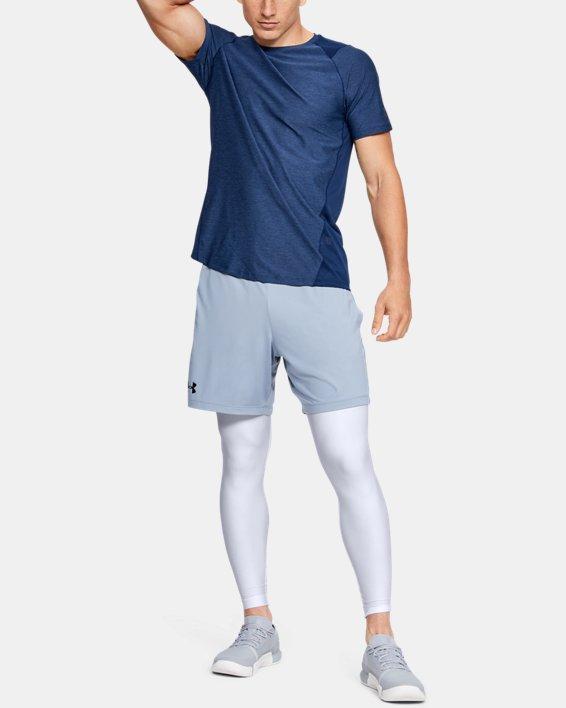 Men's HeatGear® Armour Compression Leggings, White, pdpMainDesktop image number 1