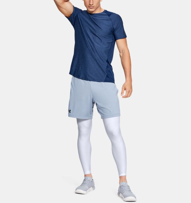 Men's HeatGear® Armour Compression Leggings, White, , White, Click to view full size