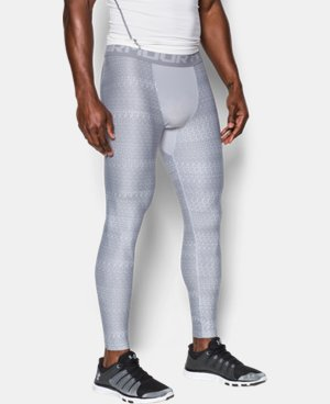 New Arrival Men's HeatGear® Armour Printed Compression Leggings   1 Color $44.99