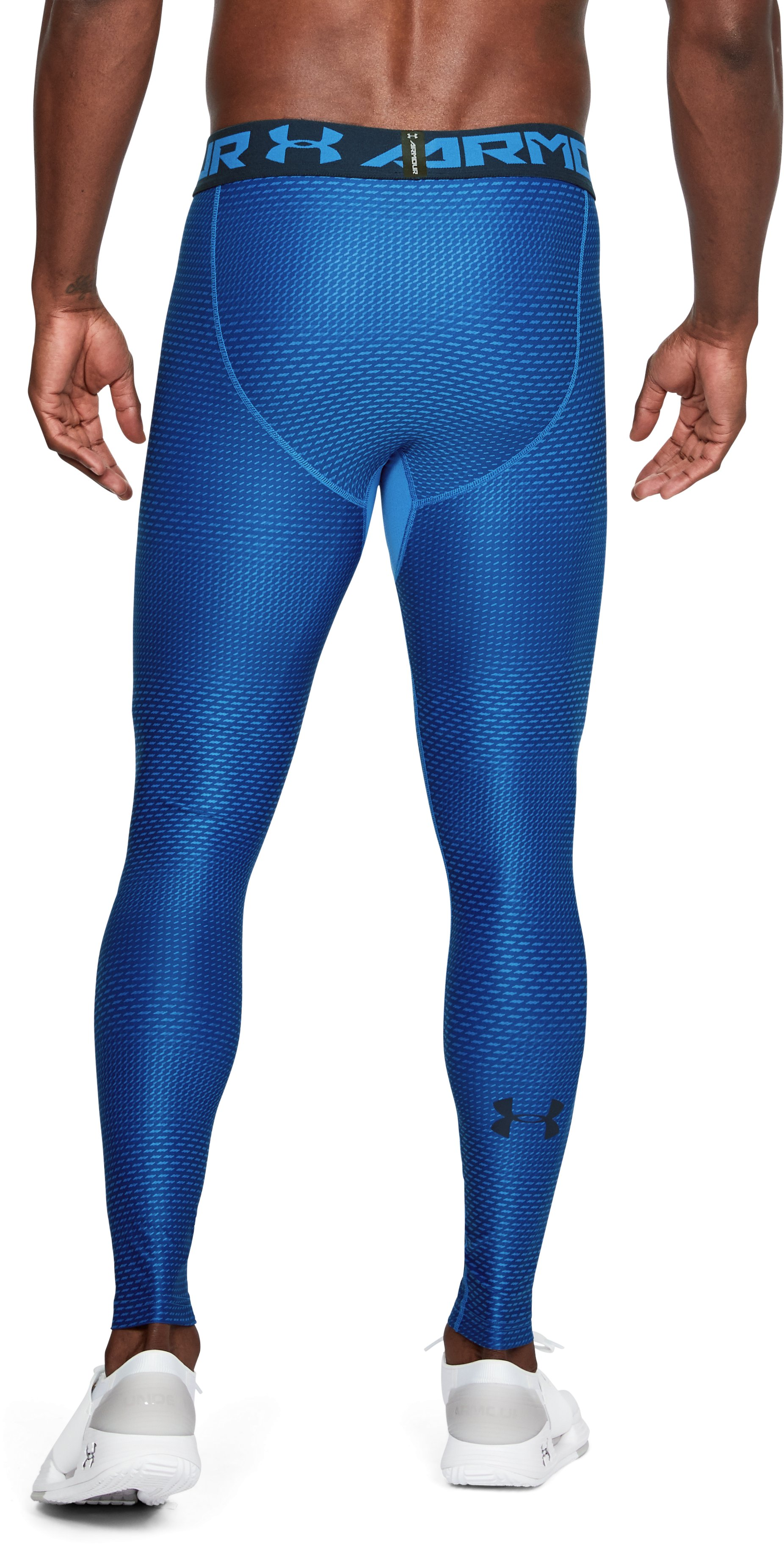 Men's HeatGear® Armour Printed Compression Leggings, Mediterranean,
