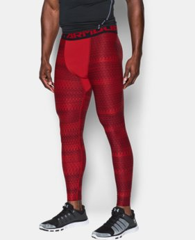 New Arrival Men's HeatGear® Armour Printed Compression Leggings    $44.99