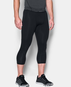 Men's HeatGear® CoolSwitch Armour ¾ Compression Leggings  3 Colors $24.99 to $26.99
