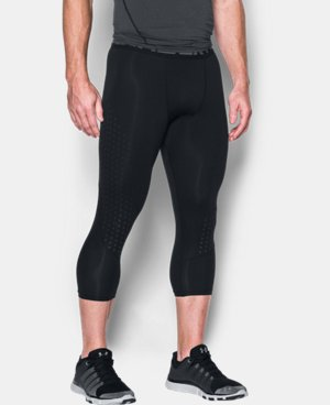 New Arrival Men's HeatGear® CoolSwitch Armour ¾ Compression Leggings  4 Colors $44.99