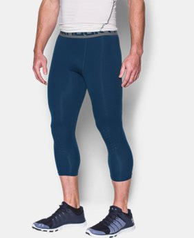 New Arrival Men's HeatGear® CoolSwitch Armour ¾ Compression Leggings  1 Color $44.99