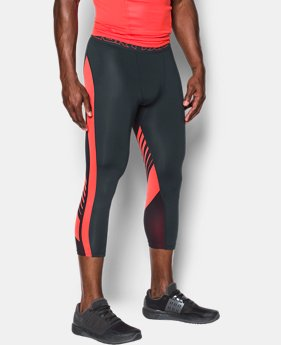Men's HeatGear® SuperVent Compression ¾ Leggings  3 Colors $29.99 to $33.99