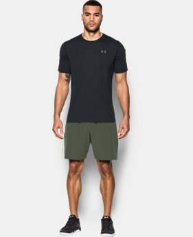 Under Armour FOUNDATION - Camiseta print - charcoal medium heather/graphite/black