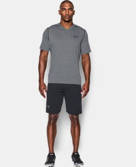 Best Seller Men's UA Threadborne Siro V-Neck T-Shirt  2  Colors Available $29.99