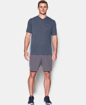 New Arrival Men's UA Threadborne V-Neck T-Shirt  LIMITED TIME: FREE U.S. SHIPPING 2 Colors $29.99