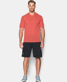 Men's UA Threadborne Siro V-Neck T-Shirt FREE U.S. SHIPPING 1  Color Available $29.99
