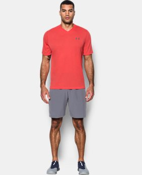 Best Seller Men's UA Threadborne Siro V-Neck T-Shirt  1 Color $17.99 to $29.99